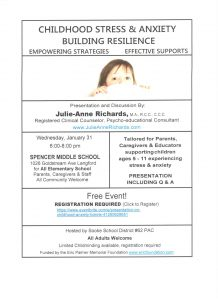 Childhood Stress & Anxiety Building Resilience