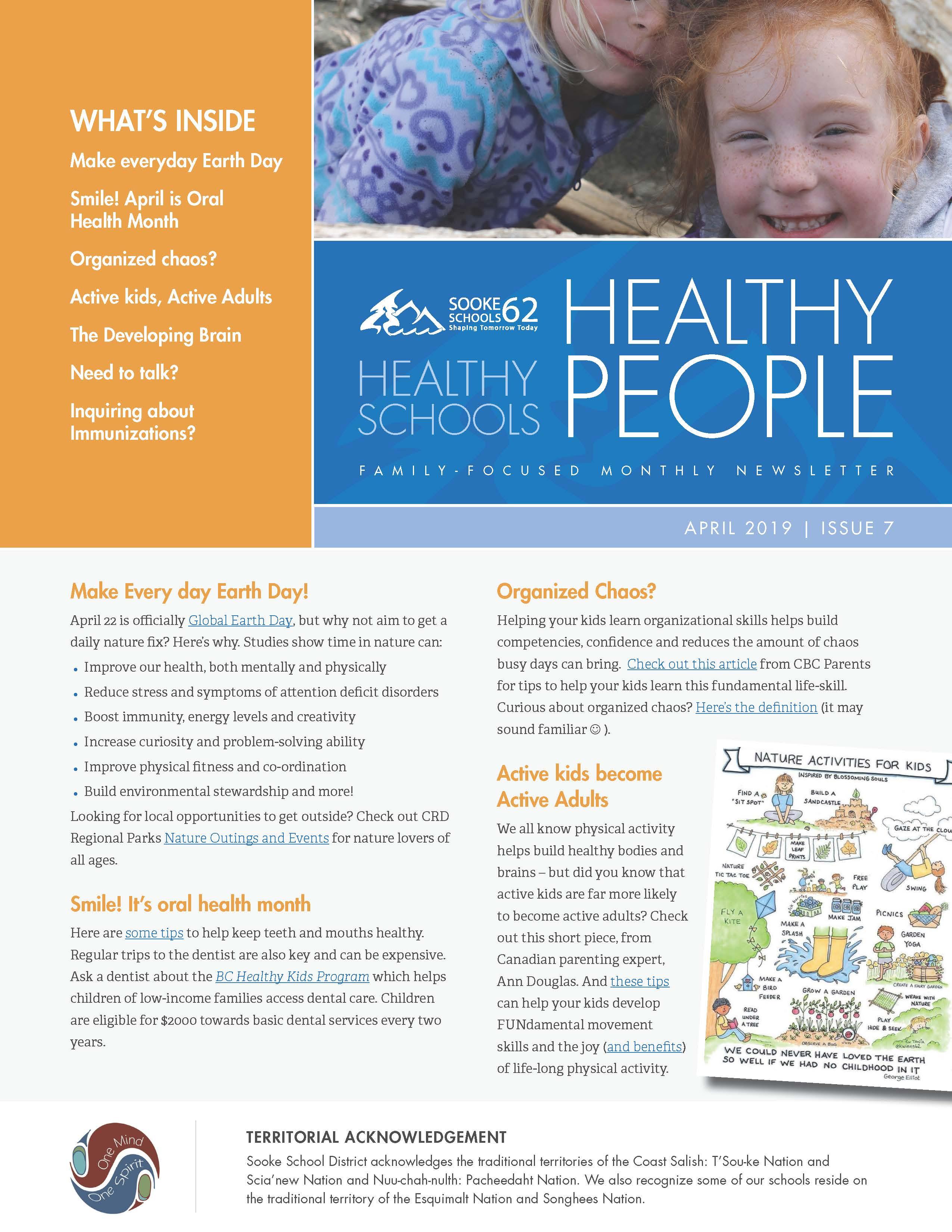 Healthy Schools Newsletter – April 2019